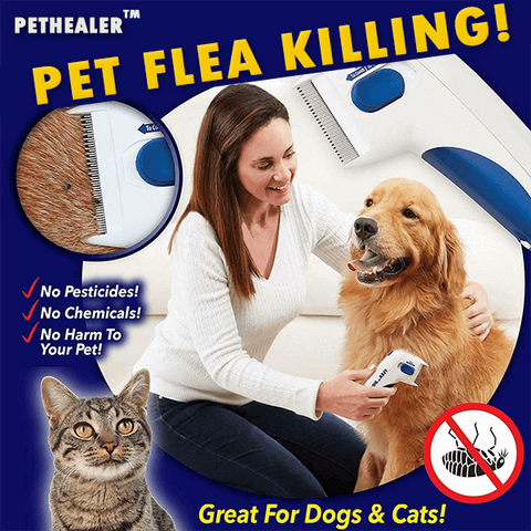 PetHealer™ Pet Flea Killing Comb - MEKONGOOD.COM