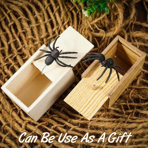 Wooden Spider Scare Prank Box - MEKONGOOD.COM