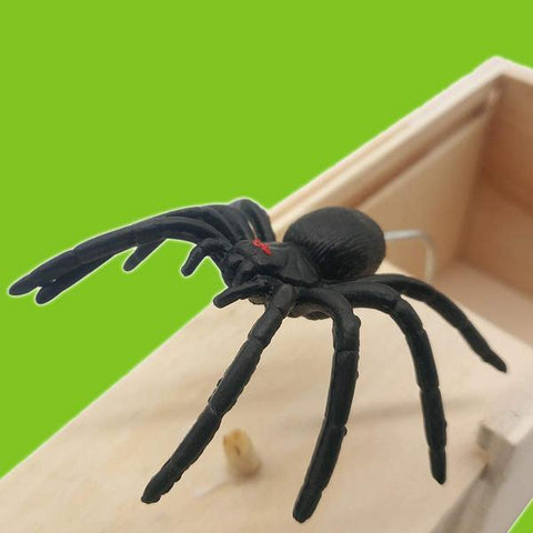 Image of Wooden Spider Scare Prank Box - MEKONGOOD.COM
