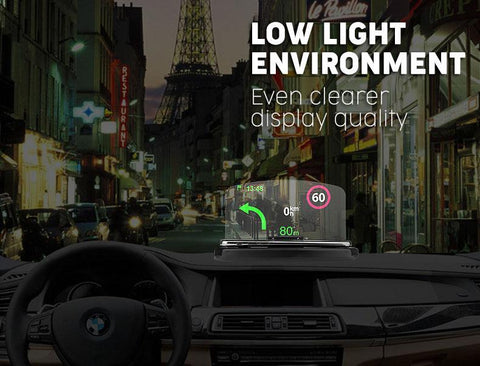 2-IN-1 Wireless Charging HUD Car Navigator - MEKONGOOD.COM