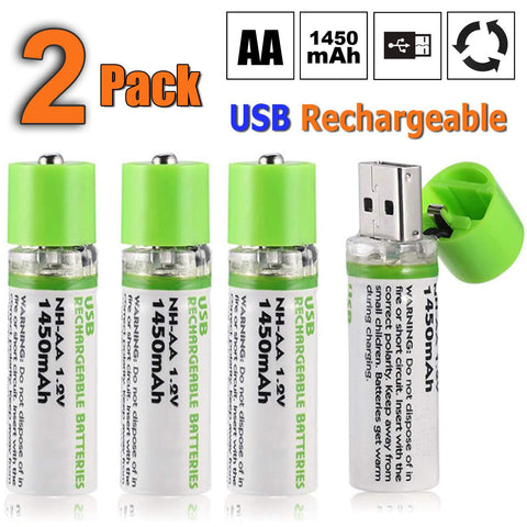 EASYPOWER Usb Rechargeable AA Batteries - MEKONGOOD.COM