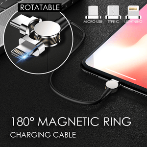 180° Magnetic Ring Charging Cable - MEKONGOOD.COM