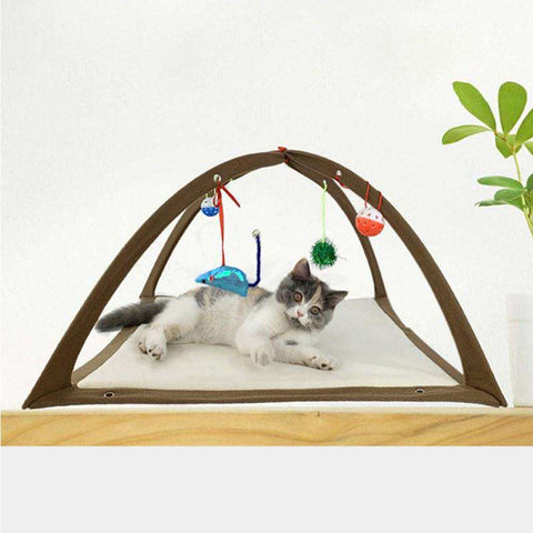 Image of Cat Hammock with Toys - MEKONGOOD.COM