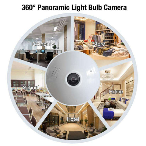 Image of Panoramic Light Bulb Camera - MEKONGOOD.COM