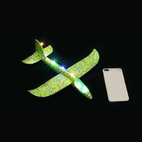 Image of Luminous Hand Launch Flying Foam Airplane - MEKONGOOD.COM