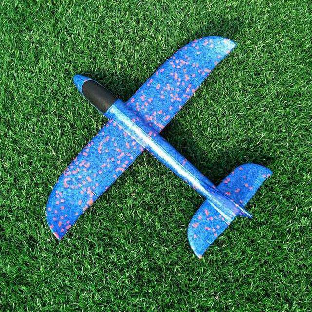 Luminous Hand Launch Flying Foam Airplane - MEKONGOOD.COM