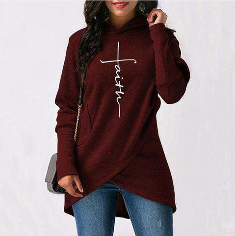 Image of Asymmetric Faith Hoodie - MEKONGOOD.COM