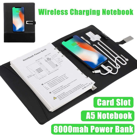 Image of Wireless Charging Notebook - MEKONGOOD.COM