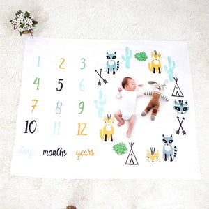 Newborn Baby Cute Blankets Baby Letter Printed Swaddle Wrap Bathing Towels Soft Blanket Infant Bedding Kids Photography Props