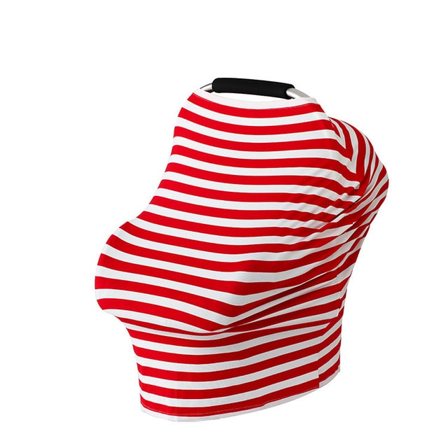 Awesome Baby Feeding Cover High Chair Cover Multifunctional 5 In 1 Baby Car Seat Cover Canopy Striped Infant Shopping Cart Nursing Cover Spiritservingveterans Wood Chair Design Ideas Spiritservingveteransorg