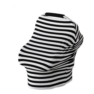 Baby Feeding Cover High Chair Cover Multifunctional 5 in 1 Baby Car Seat Cover Canopy Striped Infant Shopping Cart Nursing Cover