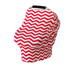 Load image into Gallery viewer, Baby Feeding Cover High Chair Cover Multifunctional 5 in 1 Baby Car Seat Cover Canopy Striped Infant Shopping Cart Nursing Cover