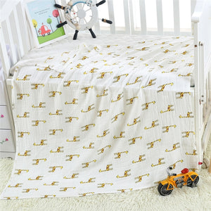 2 Layers Baby Swaddle Blankets Muslin Wrap Newborn Stroller Cover Play Mat Infant Bath Towel Baby Accessories Cotton Blanket
