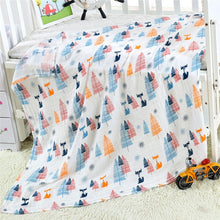 Load image into Gallery viewer, 2 Layers Baby Swaddle Blankets Muslin Wrap Newborn Stroller Cover Play Mat Infant Bath Towel Baby Accessories Cotton Blanket