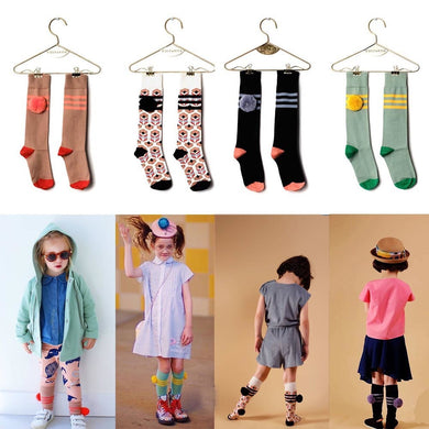 Baby Girl Knee High Socks Infantil Menina Kids School Socks Wolf Rita Brand Toddler Boys Socks Children Chaussettes Enfants