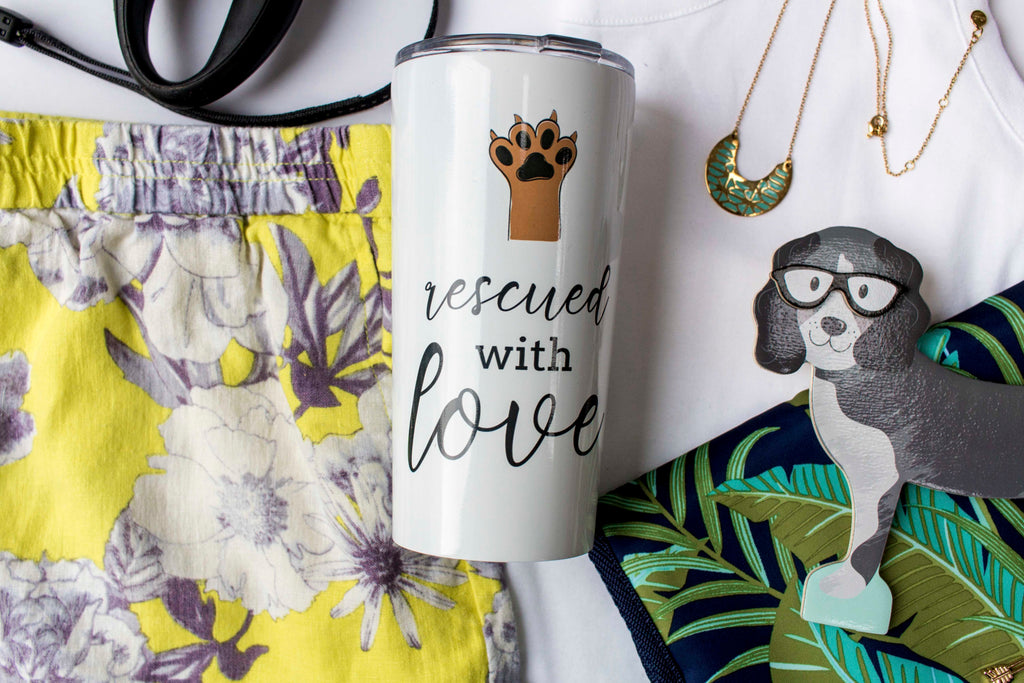 rescued with love gifts for dog moms