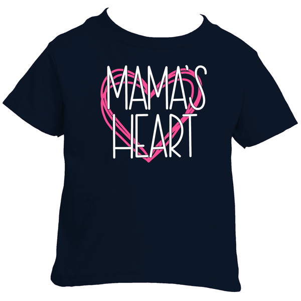 Mama's Heart Tee for Girls | Mommy and Me Clothing at The Nelson Company