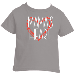 "toddler boy's shirt, mommy and me clothing, ""mama's heart"""