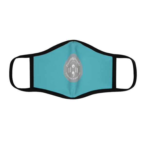 Courtney's Light Logo Fitted Face Mask - Light Teal