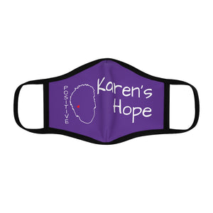 Karen's Hope Fitted Purple Face Mask