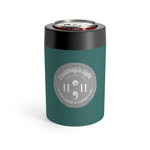 Courtney's Light Logo Can Holder - Dark Teal