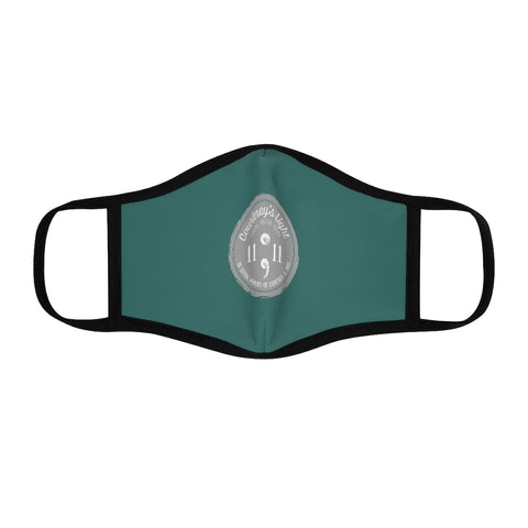 Courtney's Light Logo Fitted Face Mask - Dark Teal
