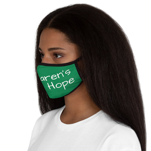 Karen's Hope Fitted Green Face Mask