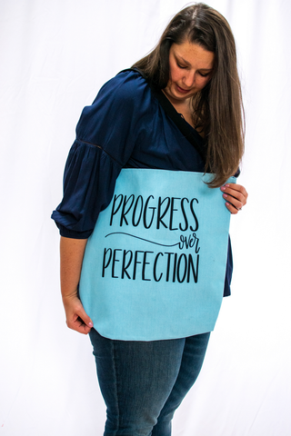 Progress over Perfection Tote | Bags for Women at The Nelson Company