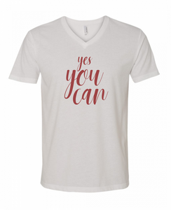 The Yes You Can Vee | Inspirational T Shirts at The Nelson Company