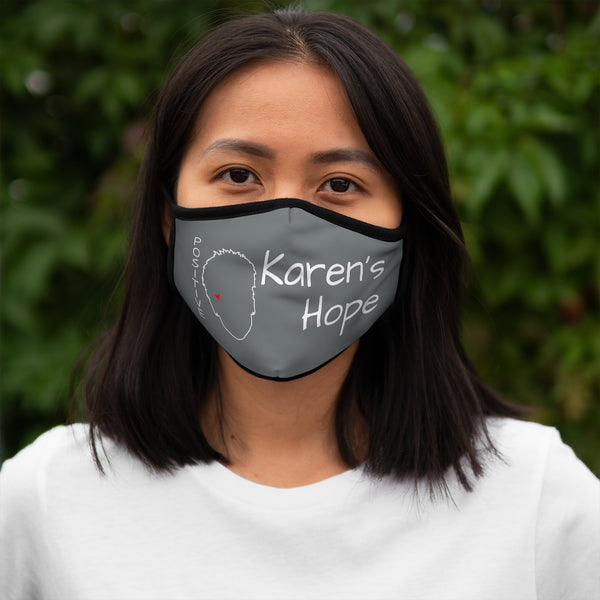 Karen's Hope Fitted Grey Face Mask