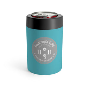 Courtney's Light Logo Can Holder - Light Teal