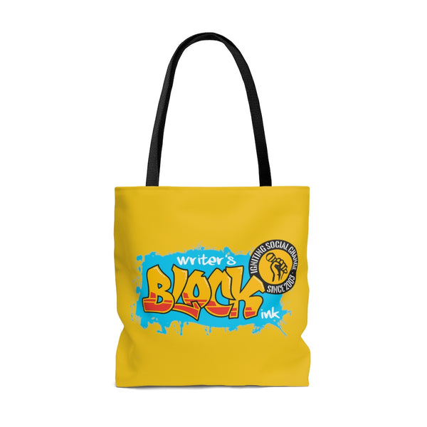 Art Is Our Weapon Tote Bag Yellow