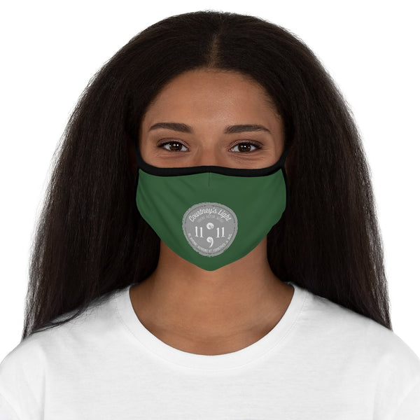 Courtney's Light Logo Fitted Face Mask - Green