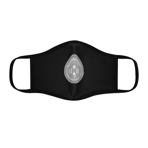 Courtney's Light Logo Fitted Face Mask - Black