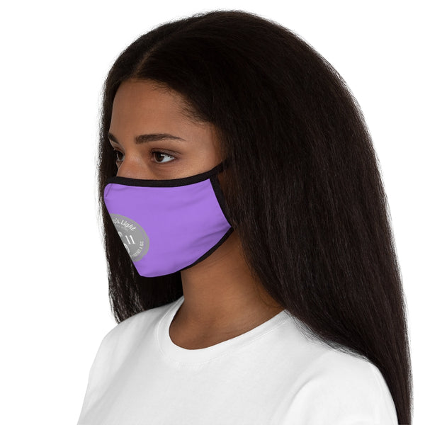 Courtney's Light Logo Fitted Face Mask - Purple