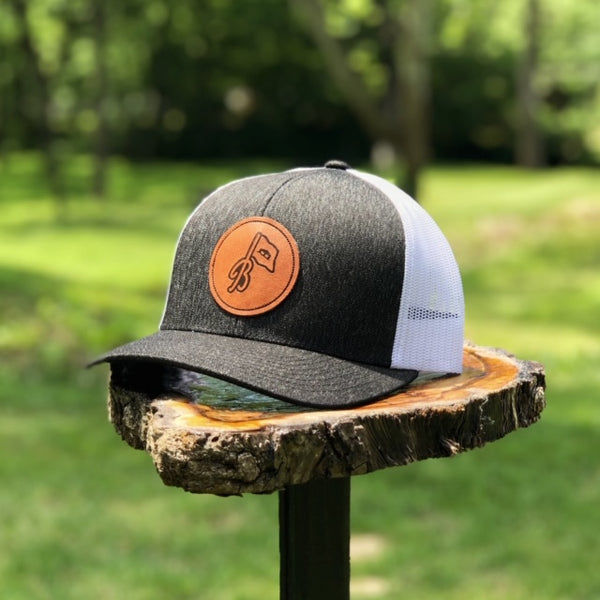 Heather Black Patch Hat