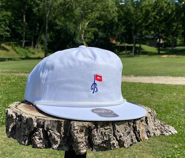 "White ""Members Only"" Rope Hat"