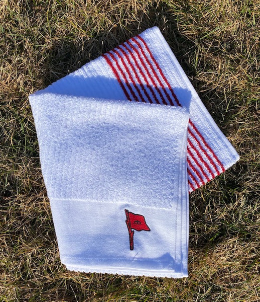 New Flag BCN Towel | White with Red Stripe