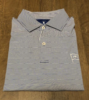 Fairway & Greene Mini Stripe Polo - Liberty Blue