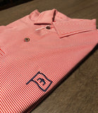 Fairway & Greene Mini Stripe Polo - Red