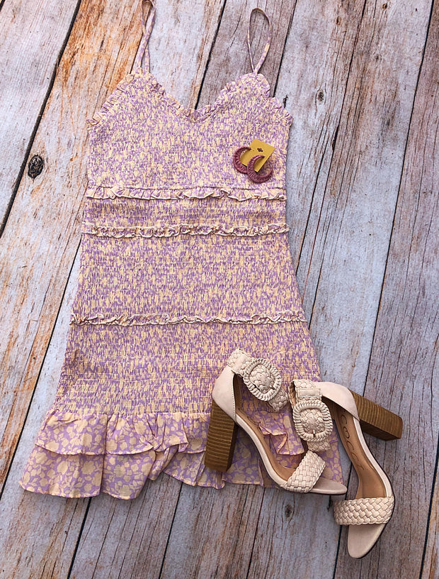 Citrus Smocked Dress