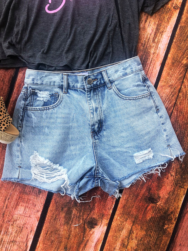 Stone Washed Shorts