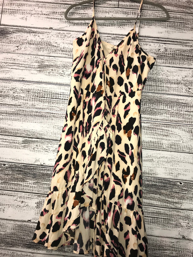 Ruffled Cheetah High Low Dress