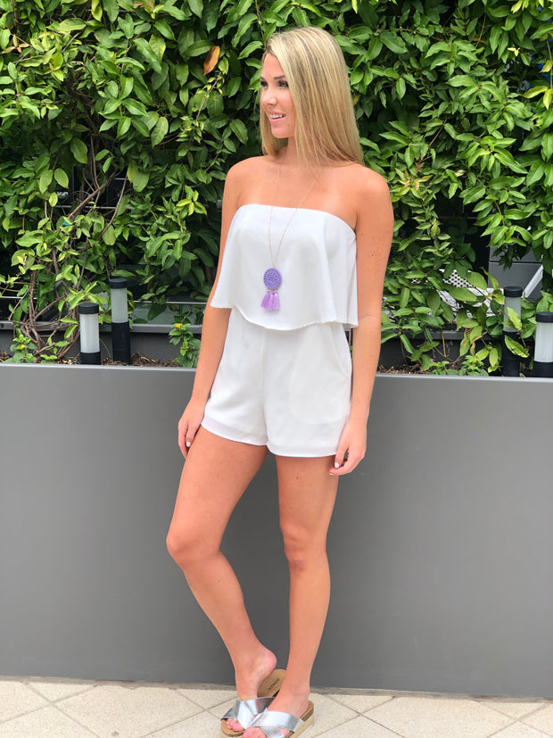 White Hot Romper