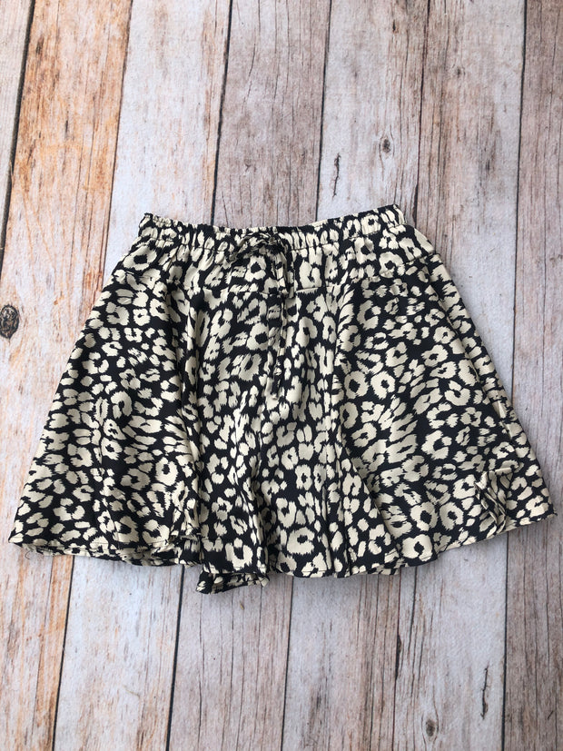 Silky Cheetah Skirt