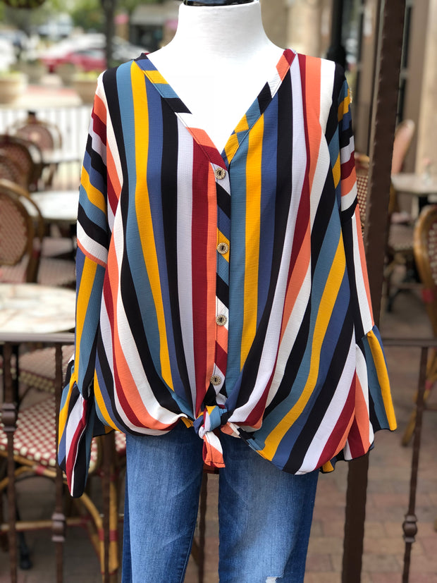Harper Striped Top