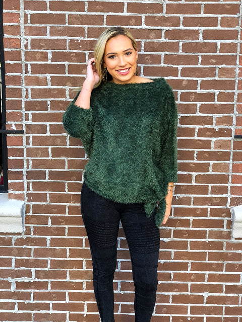 Evergreen Velour Sweater