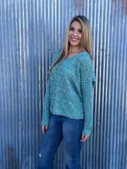 Knotted Mint Sweater