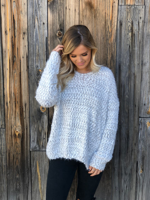 Snowfall Fuzzy Sweater