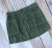 Washed Olive Skirt